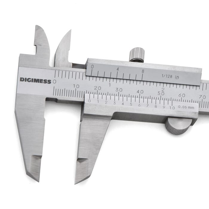 "Paquimetro Med. Universal 150mm/6"" ( 0,05mm/1/128"")"