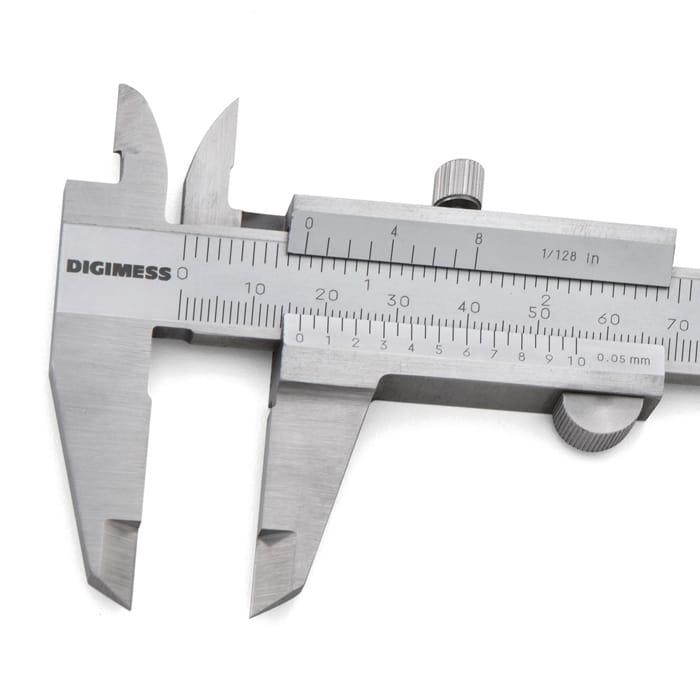 "Paquímetro Universal - Cap. 200mm/8"" - Graduação 0,05mm/1/128"" - DIGIMESS"