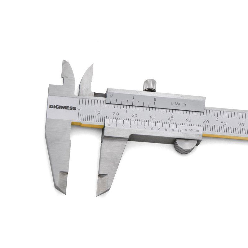 """Paquímetro Universal Com Guias De Titânio - Cap. 150mm/6"""" - Graduação 0,05mm/1/128"""" - DIGIMESS"""