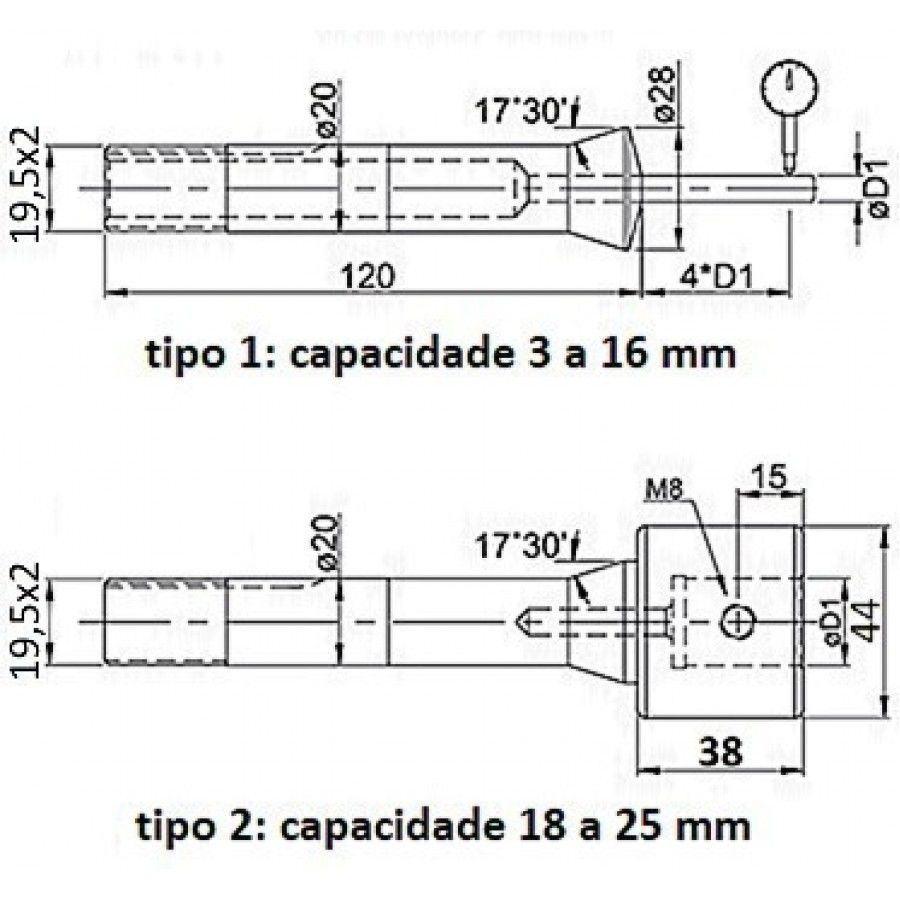 Pinça Para Afiadora Universal 05mm - JG TOOLS