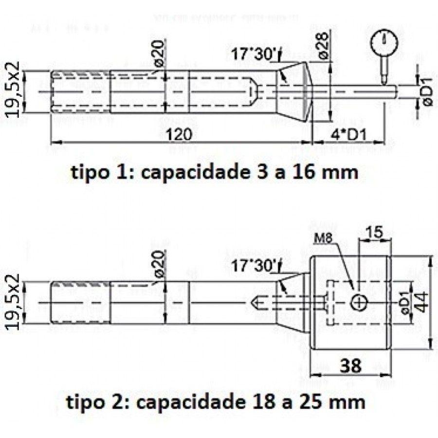 Pinça Para Afiadora Universal 08mm - JG TOOLS