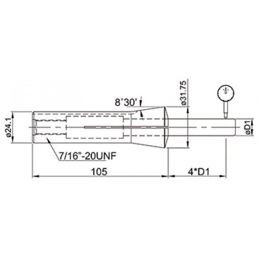 Pinça R8 04 mm - JG TOOLS