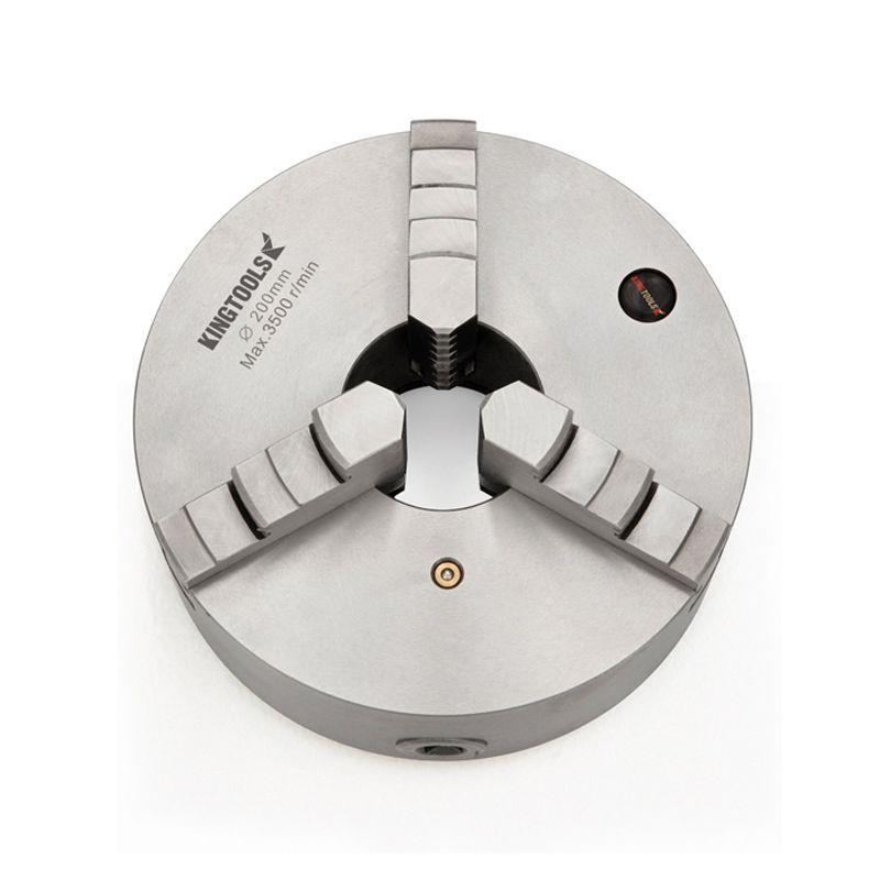 """Placa Para Torno Universal Diâmetro 80mm/3"""" Com 3 Castanhas Monobloco - Ref. 820.001 - KINGTOOLS"""