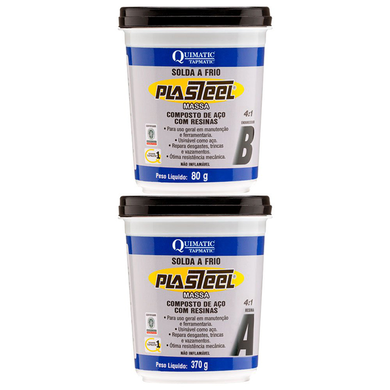 PLASTEEL MASSA 4:1 - Solda a Frio - Embalagem 450G - PQ1