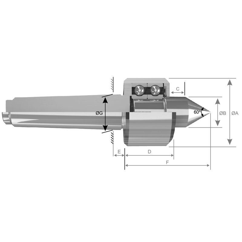 Ponta Rotativa CM-3 Cabeça CM-4 Standard H-134