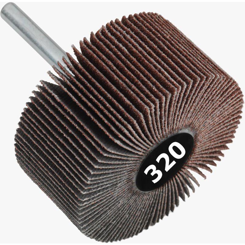Roda de Lixa Mini PG / Minikontour - Med. 25mm x 20mm - Grana 320 - Grão Especial Quantidade 50 Peças - CONVERTOP