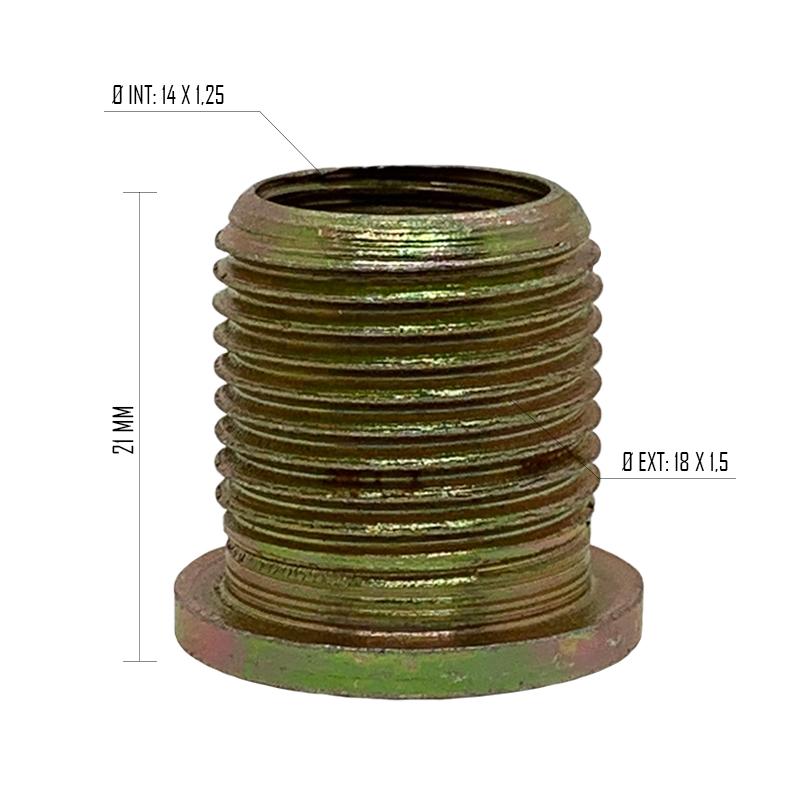 Rosca Postiça Bucha Roscada - M14x1,25 - M18x1,5 - 30 Pçs