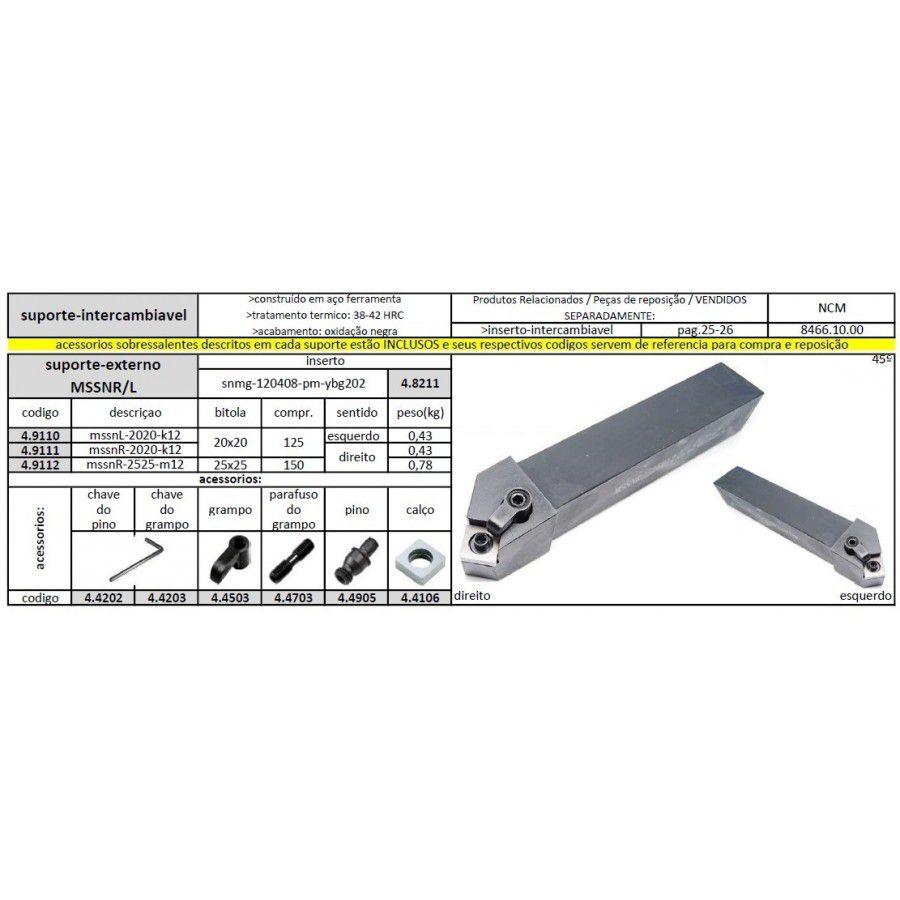 Suporte MSSNR 2020 K12 - JG TOOLS