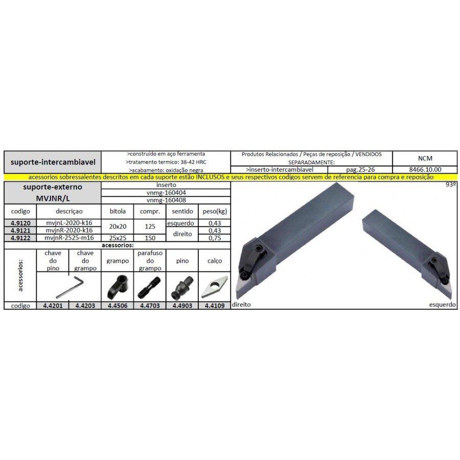 Suporte MVJNL 2020 K16 - JG TOOLS