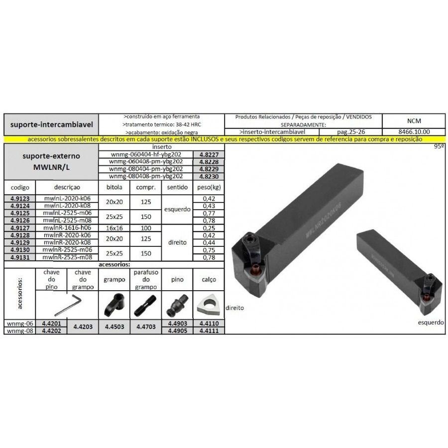 Suporte MWLNR 1616 H06 - JG TOOLS