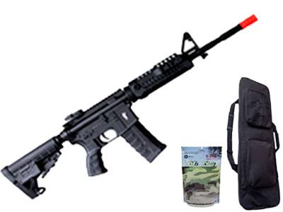 Rifle de Airsoft Combo M4A1 CAA Custom Plast Elet BB 6MM