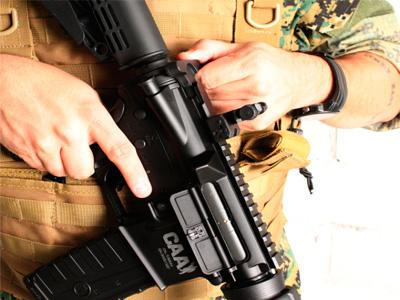 Rifle de Airsoft Combo M4A1 CAA Custom Plast Elet BB 6MM