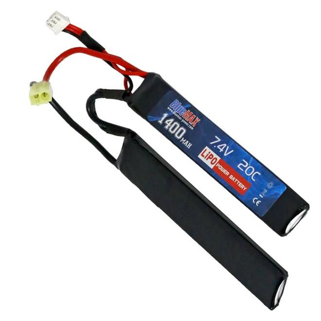 Bateria para Airsoft Lipo 7.4V 1400mAh Nunchuck - Blue Max