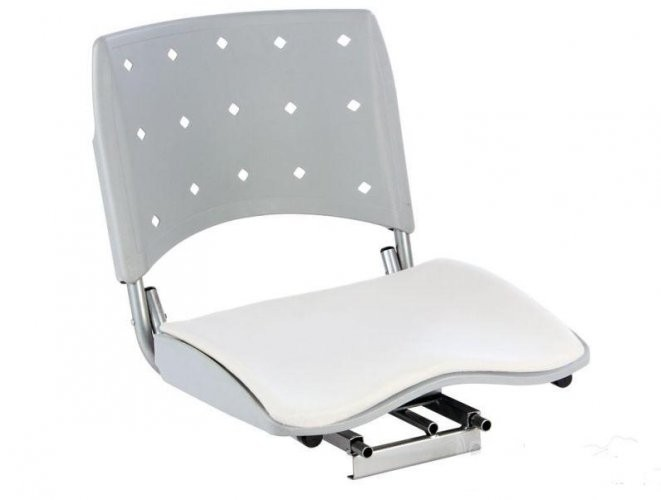 Cadeira Estofada Anatomica para Barco 360 Cinza