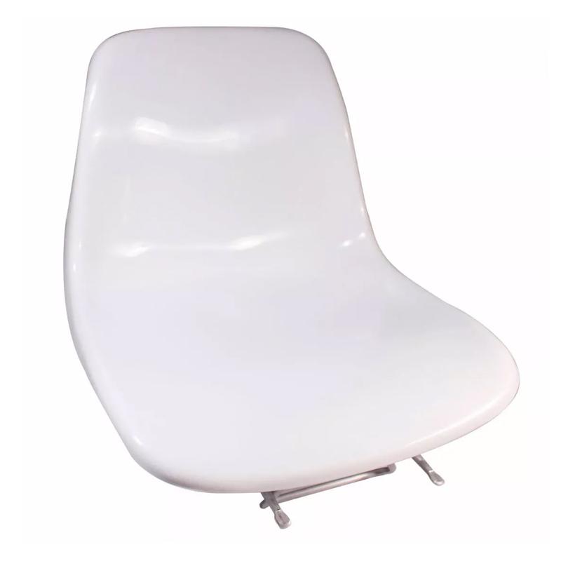 Cadeira Joga P/ Barco Concha Giratoria  Branca