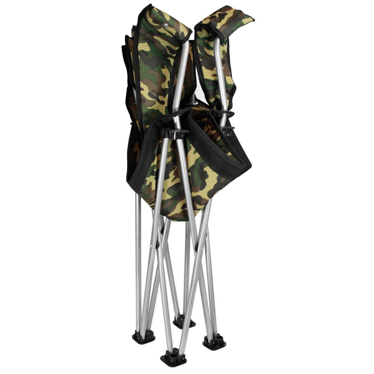 Cadeira Joga Retratil  G  C/ Descanco de Braco Camuflado