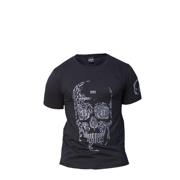 Camiseta Ripstop Estampada Caveira Armas Preta M