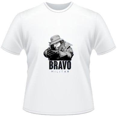 Camiseta Ripstop Estampada Tiro Certo Bravo Branco M
