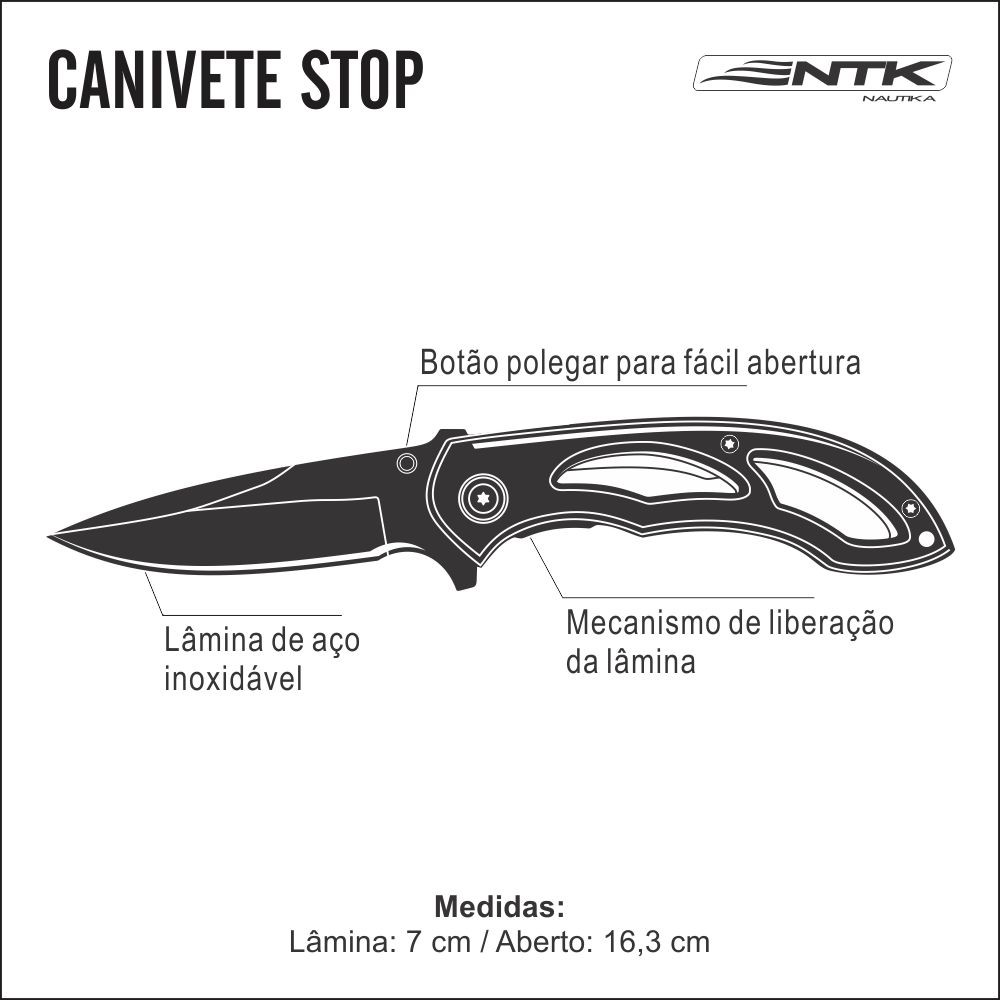 Canivete Nautika Stop Unica