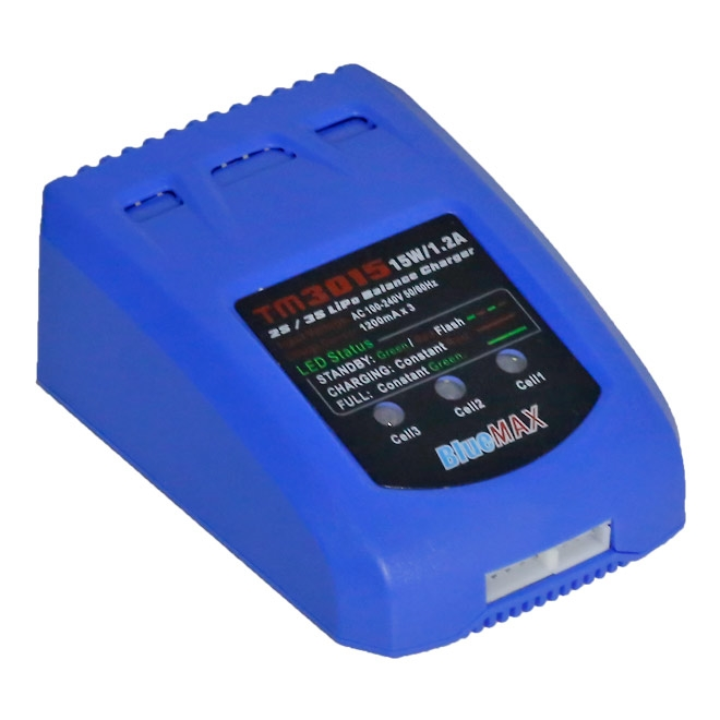 Carregador e Balanceador de Baterias Lipo  Blue Max