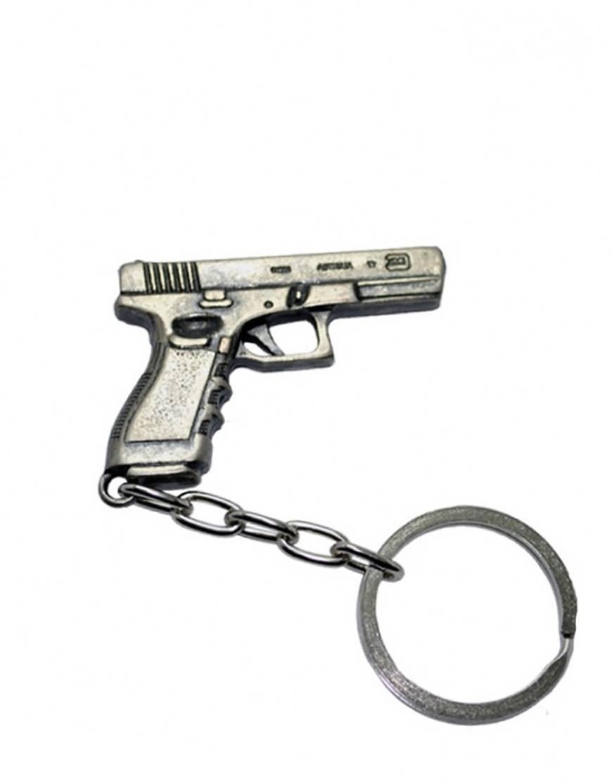 Chaveiro de Metal Pistola 7- Cromado