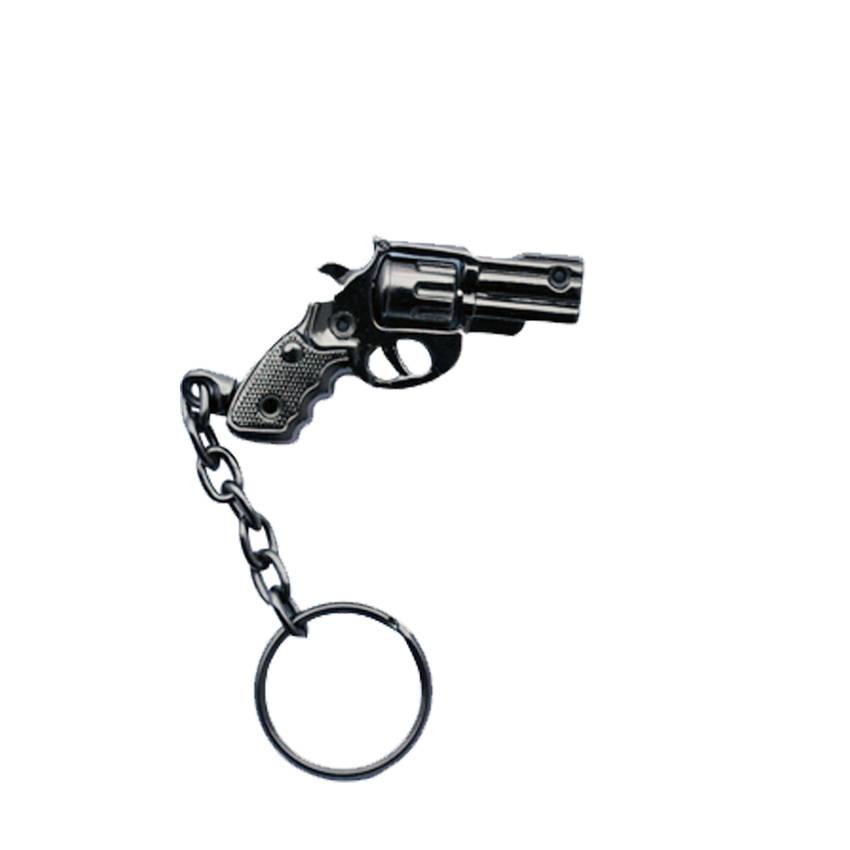 Chaveiro Revolver 38 Tambor Giratorio 1 Preto