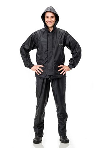 Conjunto Capa e calça para chuva impermeável Pantaneiro Preto