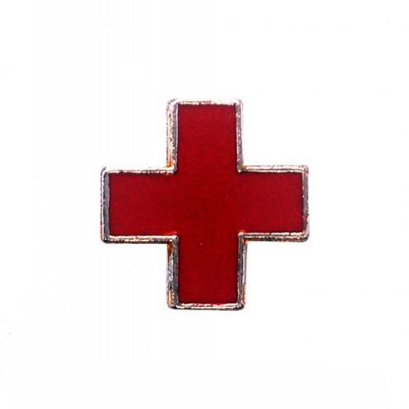 Distintivo de Metal Saude Vermelha 10-V