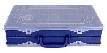 Estojo H.I Duplo Azul 35x22x8,3cm