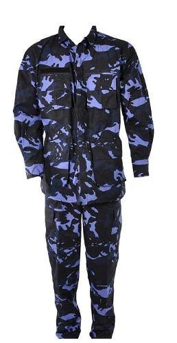 Farda Combate Ripstop Camuflado Woodland Azul M-40