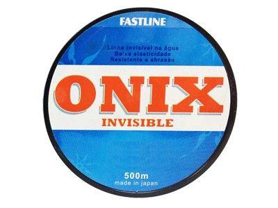 Linha Monofilamento Fastline Onix Invisible 500M Azul Espessura: 0,470MM ; Libragem: 45LB