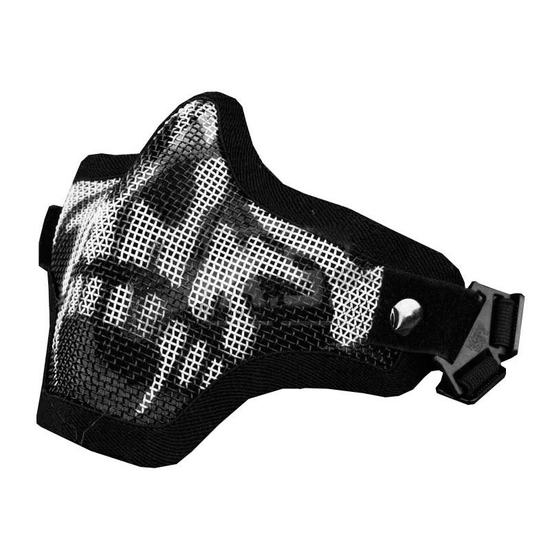 Mascara Proteção de Boca P/ Airsoft TMC Face Strike Caveira