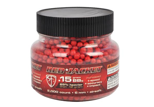 Esferas plásticas BBs Red Jacket Calibre 6 mm 0,15g 2000un