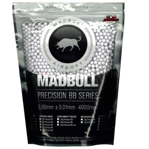 Municao/Esferas BBs 0,25G Madbull 4000 UN Branca