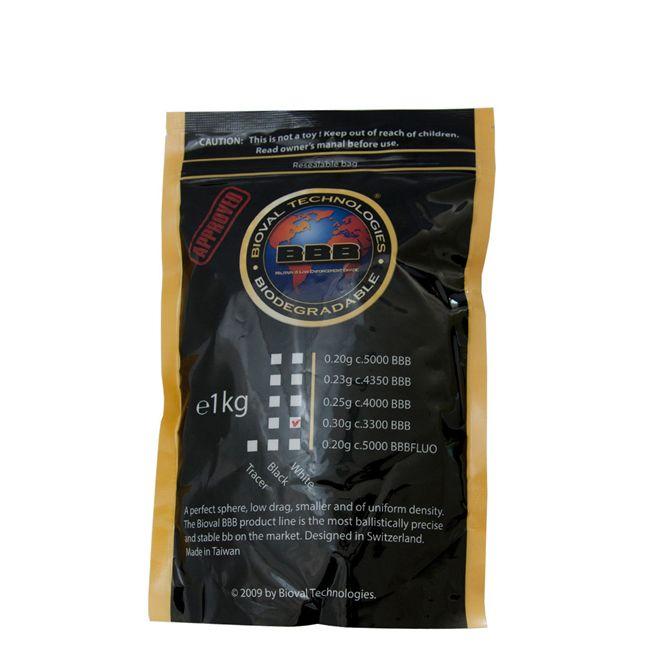 Munição/Esferas BBs 0,30G Bioval (1 KG) 6MM