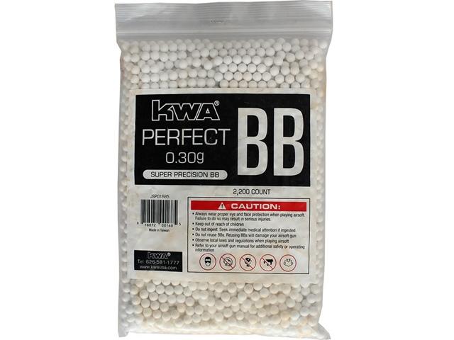 Municao/Esferas BBs 0,30G KWA Perfect  2200 UN Branca