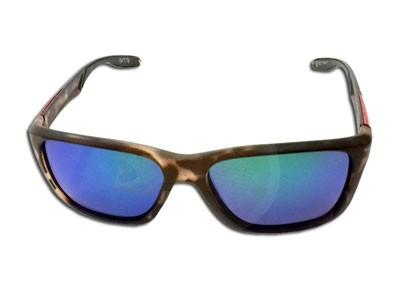 Oculos Matuto Polarizado Marro Malhado C/ Lente Azul e Verde
