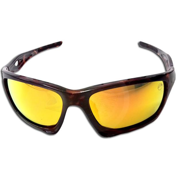 Oculos Matuto Polarizado Marrom Escuro C/ Lente Dourada
