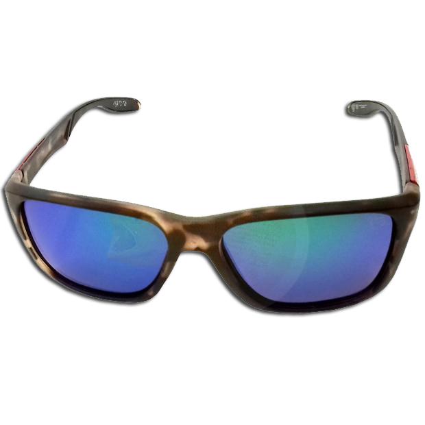 Oculos Matuto Polarizado Marrom Malhado C/ Lente Azul