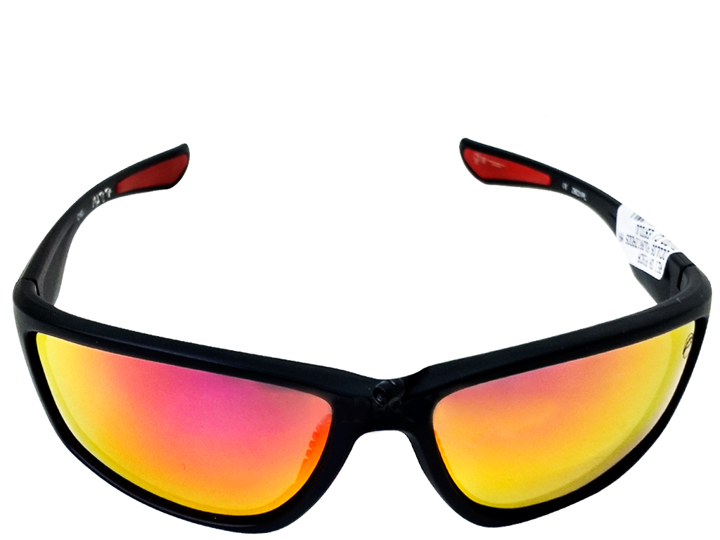 1e7139365bf01 Óculos Matuto Polarizado Preto Fosco C  Lente Dourada e Vermelha ...