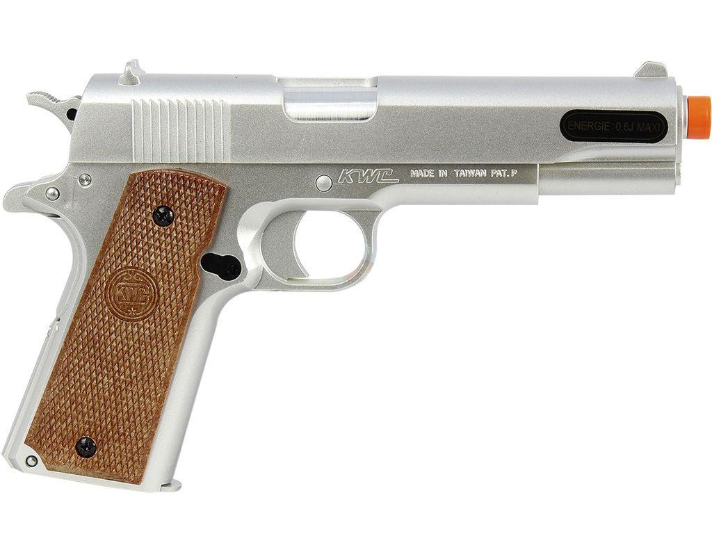 Pistola de Airsoft Kwc 1911 Mola Plast BB 6MM