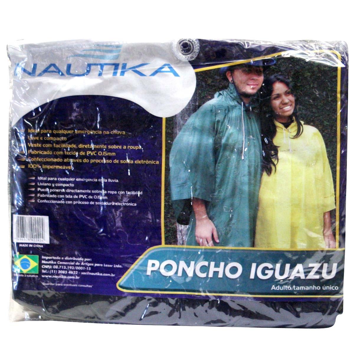 Poncho Nautika Iguazu Adulto Azul