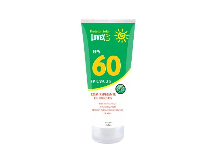 Protetor Solar com Repelente de Insetos - Fator de Proteção FPS 60