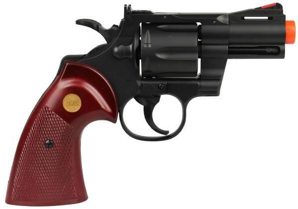 Revolver de Airsoft Spring UHC Modelo Python UA-939B Preto Cal 6mm