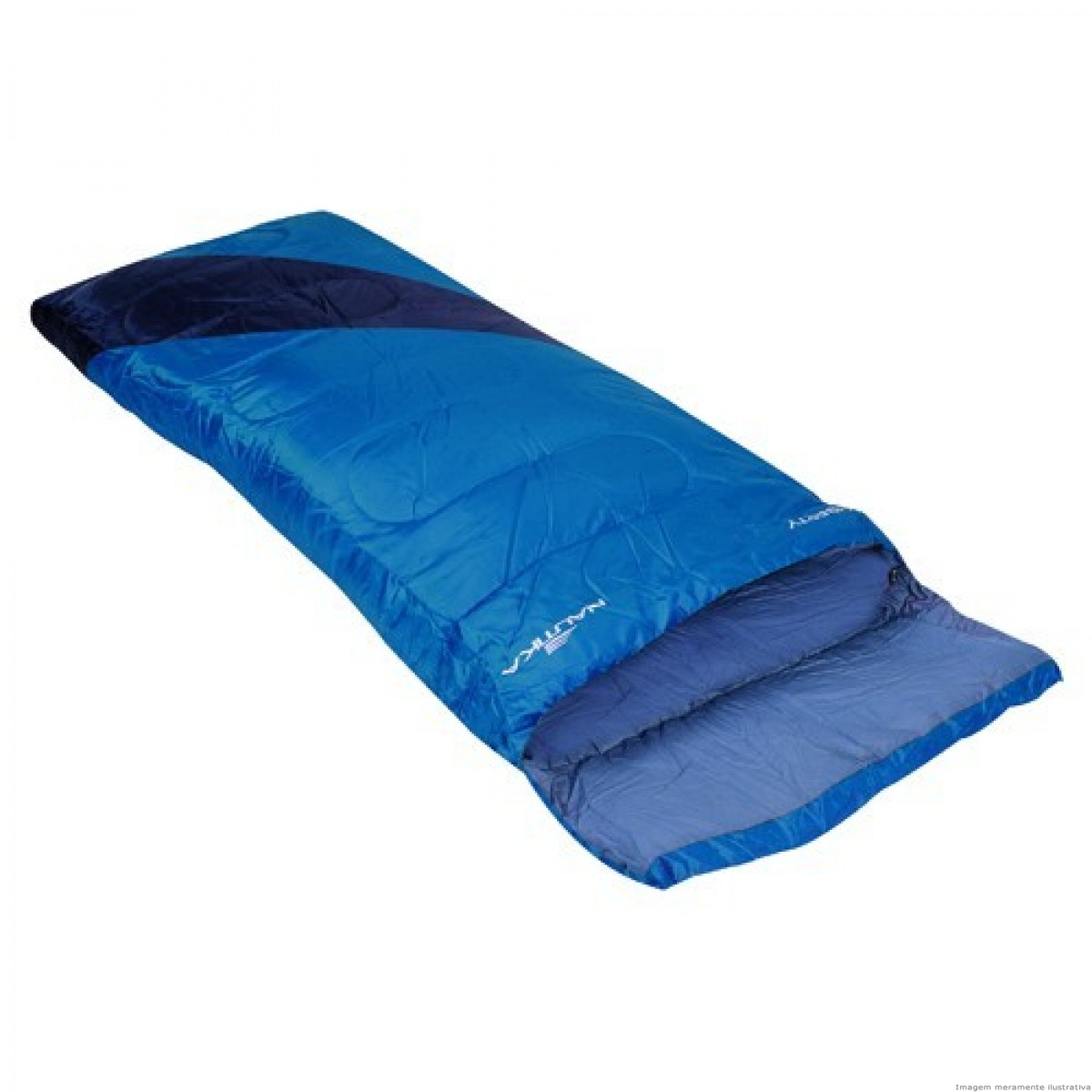 Saco de Dormir Liberty Nautika 4ºC A 10º C Preto e Azul