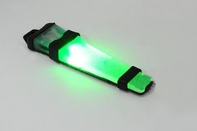 Luz para Capacete FMA Safty com Velcro Verde