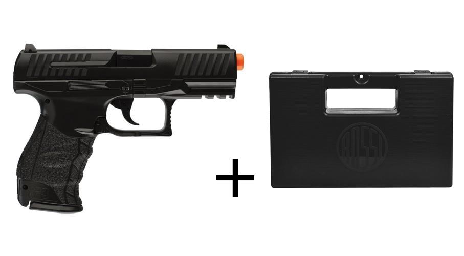 Pistola de Airsoft Walther PPQ Mola BB 6MM  Maleta de Plastico Rossi