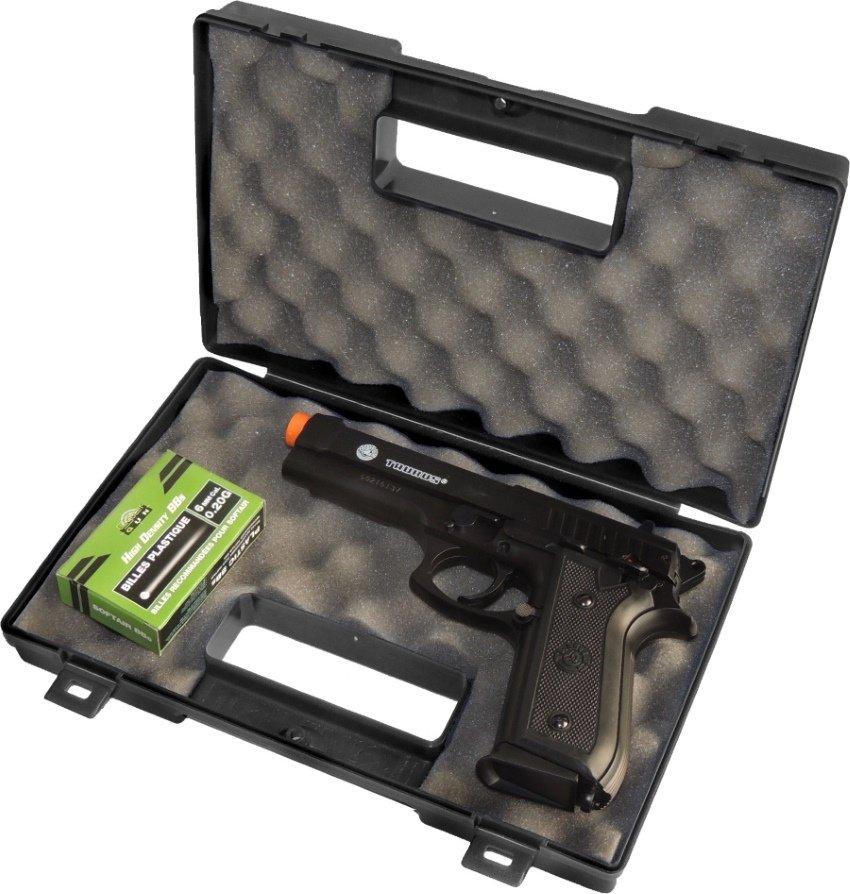 Pistola de Airsoft Spring Taurus PT92 Slide Metal 6MM  Maleta Rossi