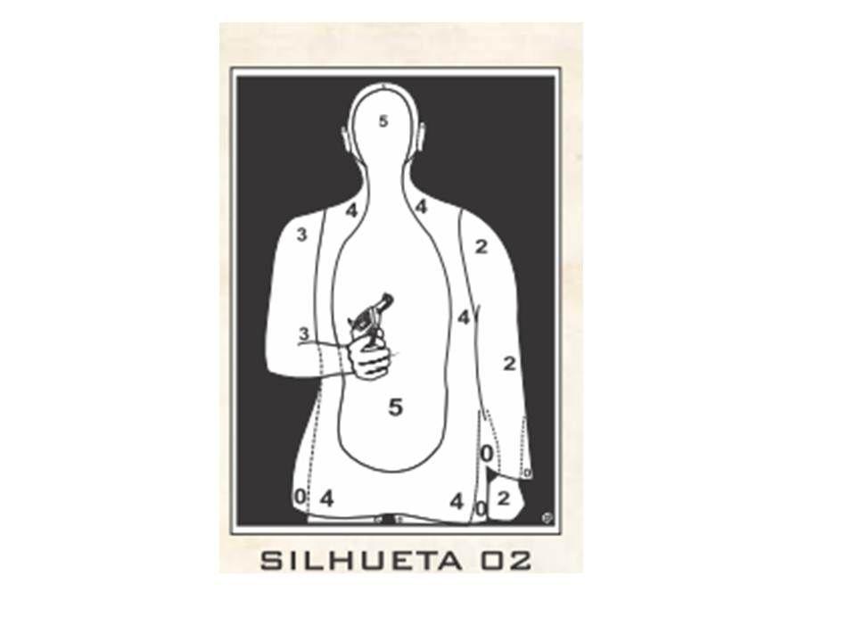 Alvo de Papel Silhueta N1 46 X 65 - C 6UN