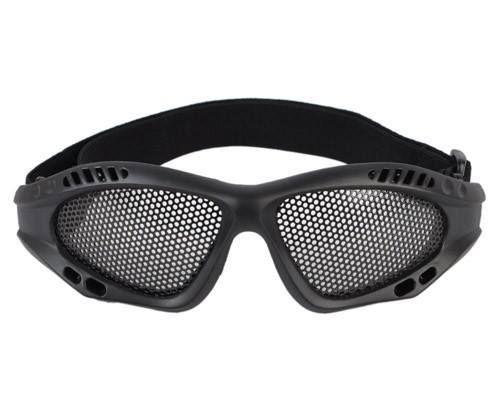 Oculos/Viseira de Prot P/ Airsoft em Tela de Metal Preto